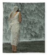 Bride Below Dam Fleece Blanket