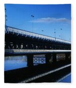 Bridge Across A River, Double-decker Fleece Blanket