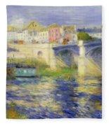 Bridge At Chatou Fleece Blanket