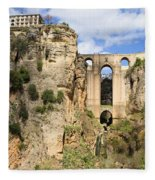 Bridge In Ronda Fleece Blanket