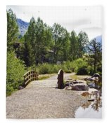 Bridge In Vail - Colorado Fleece Blanket
