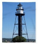 Bridge Lighthouse Fleece Blanket