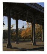 Bridge Of Bir Hakeim In Paris Fleece Blanket