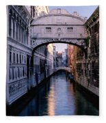 Bridge Of Sighs And Morning Colors In Venice Fleece Blanket