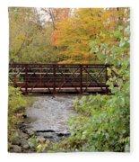 Bridge Over River Fleece Blanket