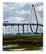 Bridge To Charleston Fleece Blanket