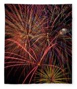 Bright Colorful Fireworks Fleece Blanket