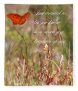 Brighten Up My Life Card Fleece Blanket