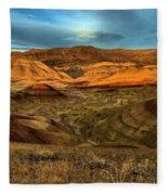 Brightly Painted Hills Fleece Blanket