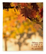 Brilliant Autumn Color Fleece Blanket