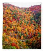 Brilliant Color Trees Fleece Blanket