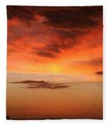 Brilliant Sunrise Over Montevideo Fleece Blanket