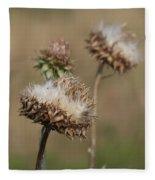 Bristle Thistle - Carduus Nutans Fleece Blanket