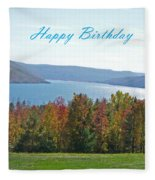 Bristol Harbor Birthday  Fleece Blanket
