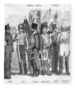 British Army, 1855 Fleece Blanket