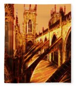 British Christian Cathedral  Fleece Blanket