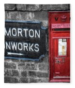 British Mail Box Fleece Blanket