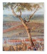 British Troops Surrender At Yorktown Fleece Blanket