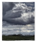 Brittany Coast Storm Fleece Blanket
