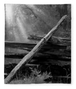 Broken Fence In Morning Light At Yosemite Fleece Blanket