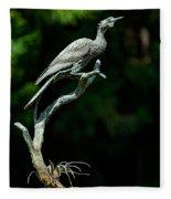 Bronze Cormorant Fleece Blanket