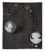 Brooch And Necklace Fleece Blanket