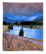 Brooding Skies Fleece Blanket