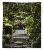 Brookgreen Gardens Path Fleece Blanket