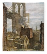 Brooklyn Bridge, 1882 Fleece Blanket