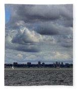 Brooklyn Skyline Fleece Blanket