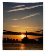 Brooklyn Sunrise Fleece Blanket