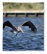 Brown Pelican - Low Flyer Fleece Blanket