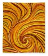 Brown Swirl Fleece Blanket