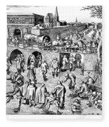 Bruegel: Ice Skaters Fleece Blanket