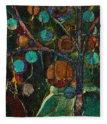 Bubble Tree - Spc01ct04 - Left Fleece Blanket
