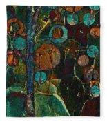 Bubble Tree - Spc01ct04 - Right Fleece Blanket