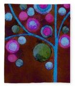 Bubble Tree - W02d - Left Fleece Blanket