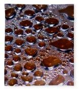 Bubbles Of Steam Cherry Wine Red Fleece Blanket