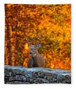Buck Digital Painting - 01 Fleece Blanket