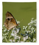 Buckeye Butterfly And Lesser Snakeroot Wildflowers Fleece Blanket