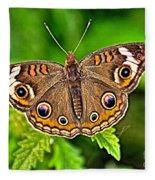 Buckeye Butterfly Fleece Blanket