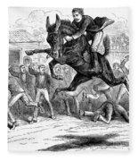 Bucking Mule, 1879 Fleece Blanket