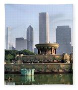 Buckingham Fountain - 1 Fleece Blanket