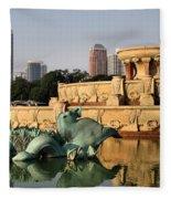 Buckingham Fountain - 3 Fleece Blanket