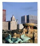 Buckingham Fountain - 4 Fleece Blanket