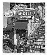 Bud'd Broiler New Orleans-bw Fleece Blanket