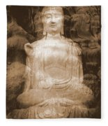 Buddha And Ancient Tree Fleece Blanket