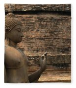 Buddha At Sukhothai 2 Fleece Blanket