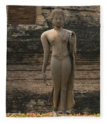 Buddha At Sukhothai 3 Fleece Blanket