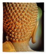 Buddha Detail 2 Fleece Blanket